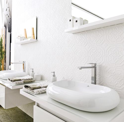 Ceramique salle de bain tendance with tendance salle de bain for Ceramique salle de bain photo