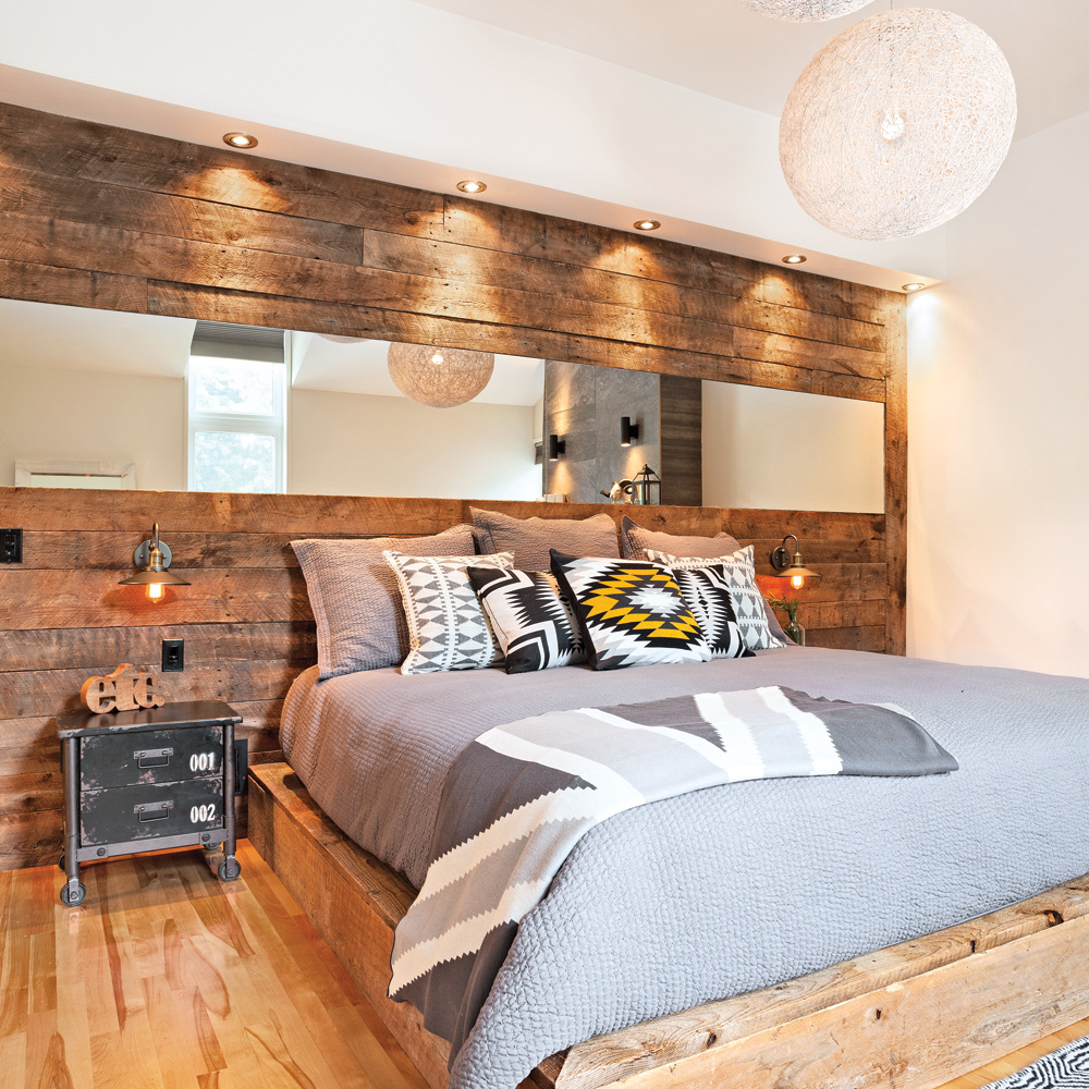 pin tete de lit en volet de bois on pinterest. Black Bedroom Furniture Sets. Home Design Ideas