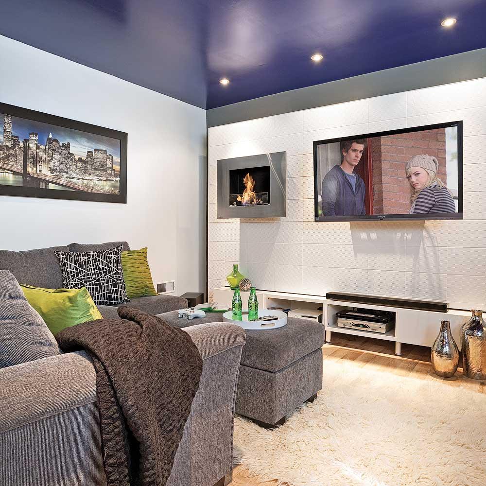 touche d 39 intensit au sous sol salon inspirations. Black Bedroom Furniture Sets. Home Design Ideas
