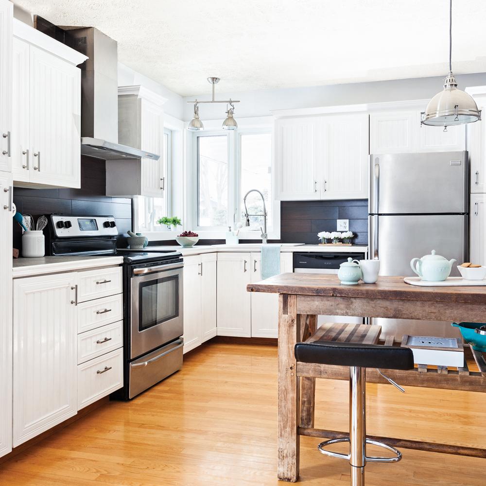 Transfo spectaculaire la cuisine cuisine avant apr s d coration et r novation pratico - Renovation cuisine avant apres ...