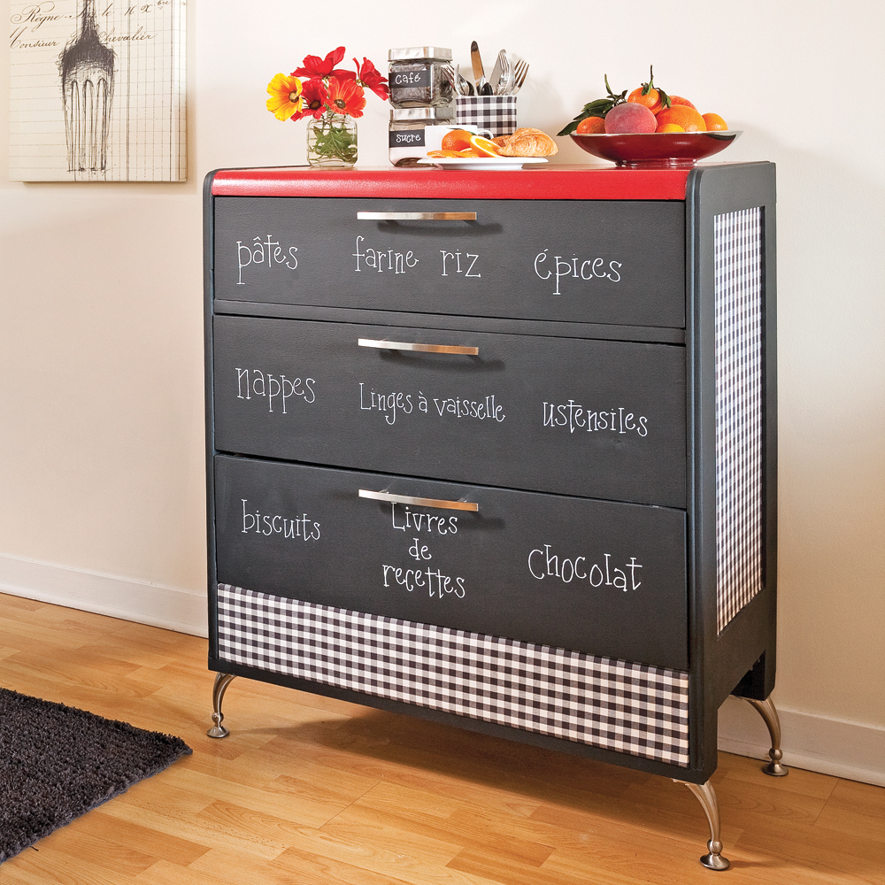 Transformer une commode en buffet tableau cuisine for Transformer une armoire en bureau