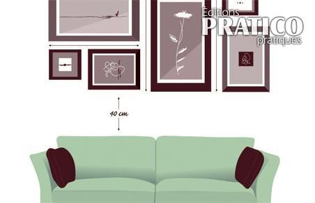 comment placer des cadres trucs et conseils d coration et r novation pratico pratique. Black Bedroom Furniture Sets. Home Design Ideas