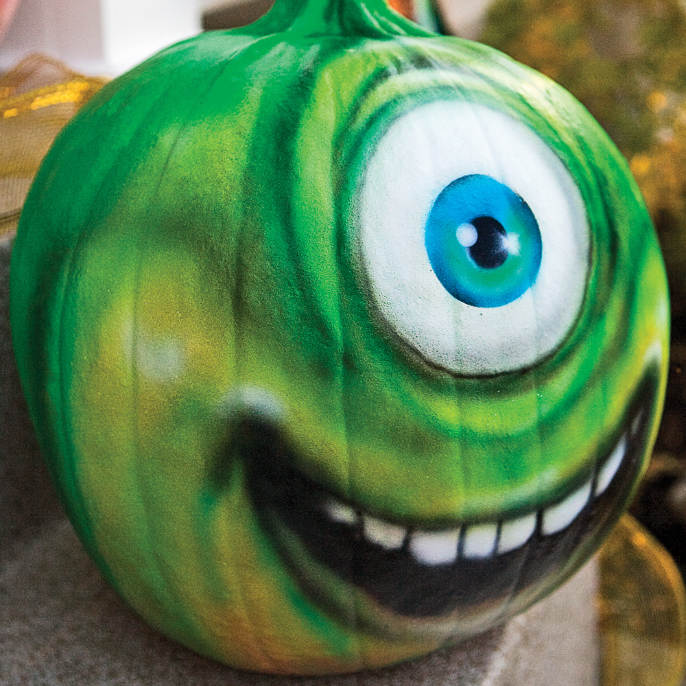Un mike wazowski en citrouille inspirations d coration - Decoration de citrouille originale ...
