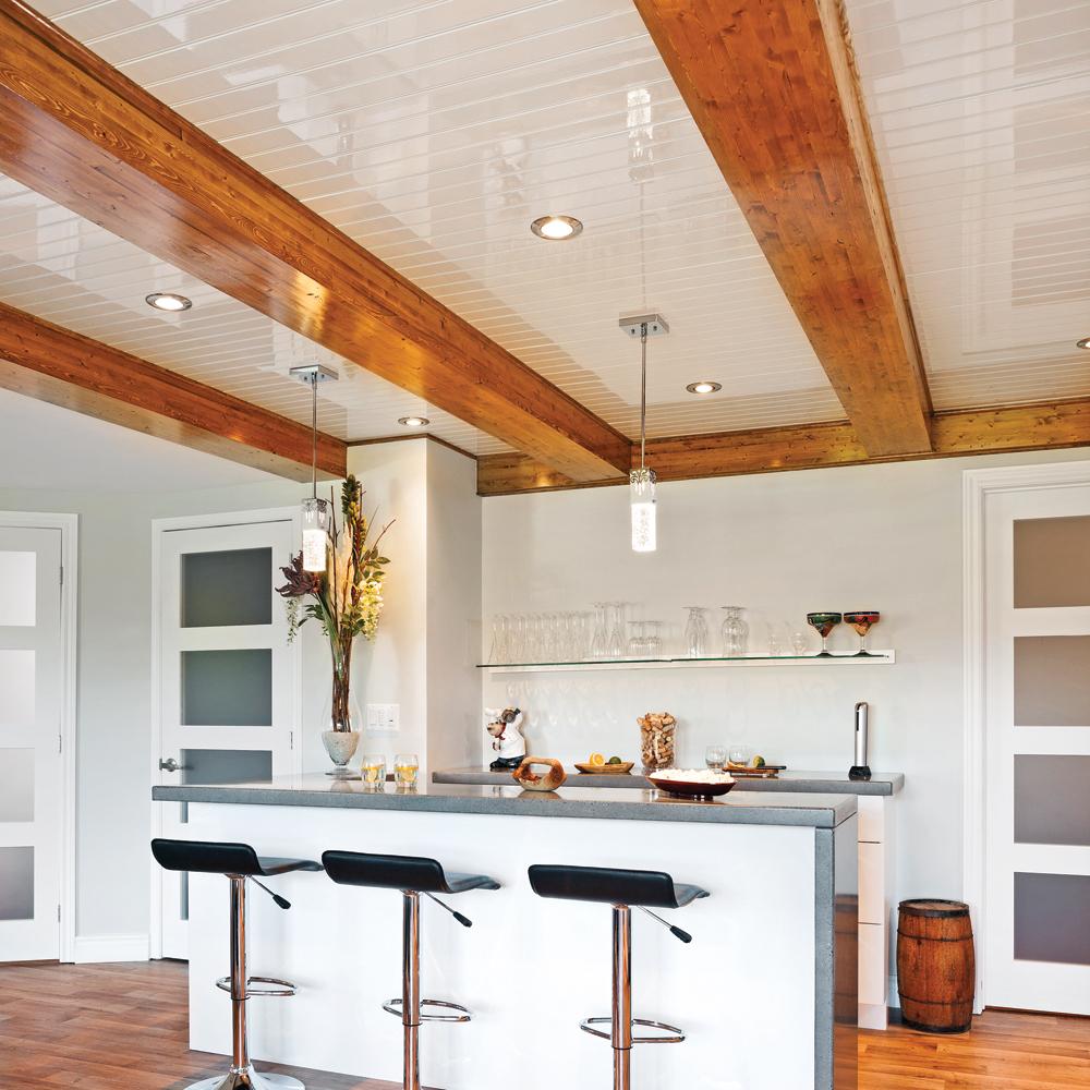 un plafond chic et rustique cuisine inspirations. Black Bedroom Furniture Sets. Home Design Ideas