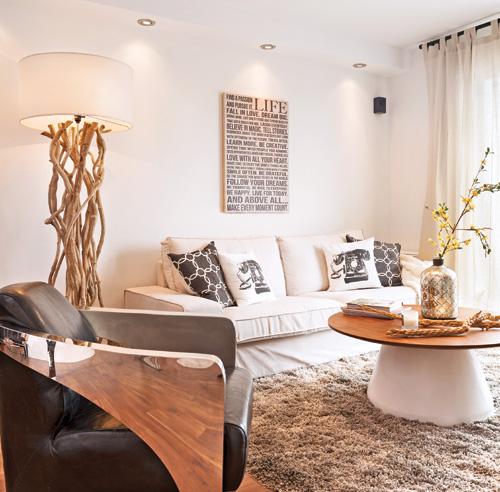 un salon rustique chic salon avant apr s d coration. Black Bedroom Furniture Sets. Home Design Ideas