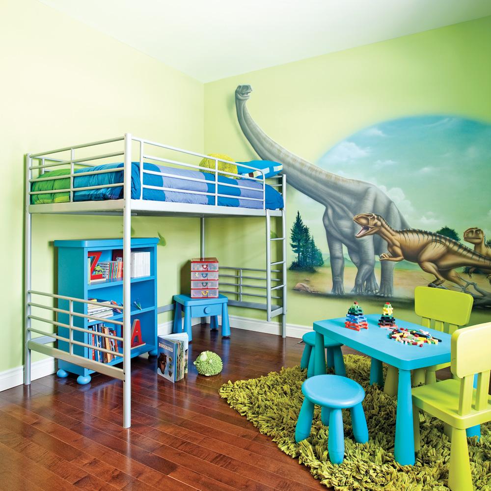 une chambre au pays des dinosaures d cors d 39 enfants inspirations d coration et r novation. Black Bedroom Furniture Sets. Home Design Ideas