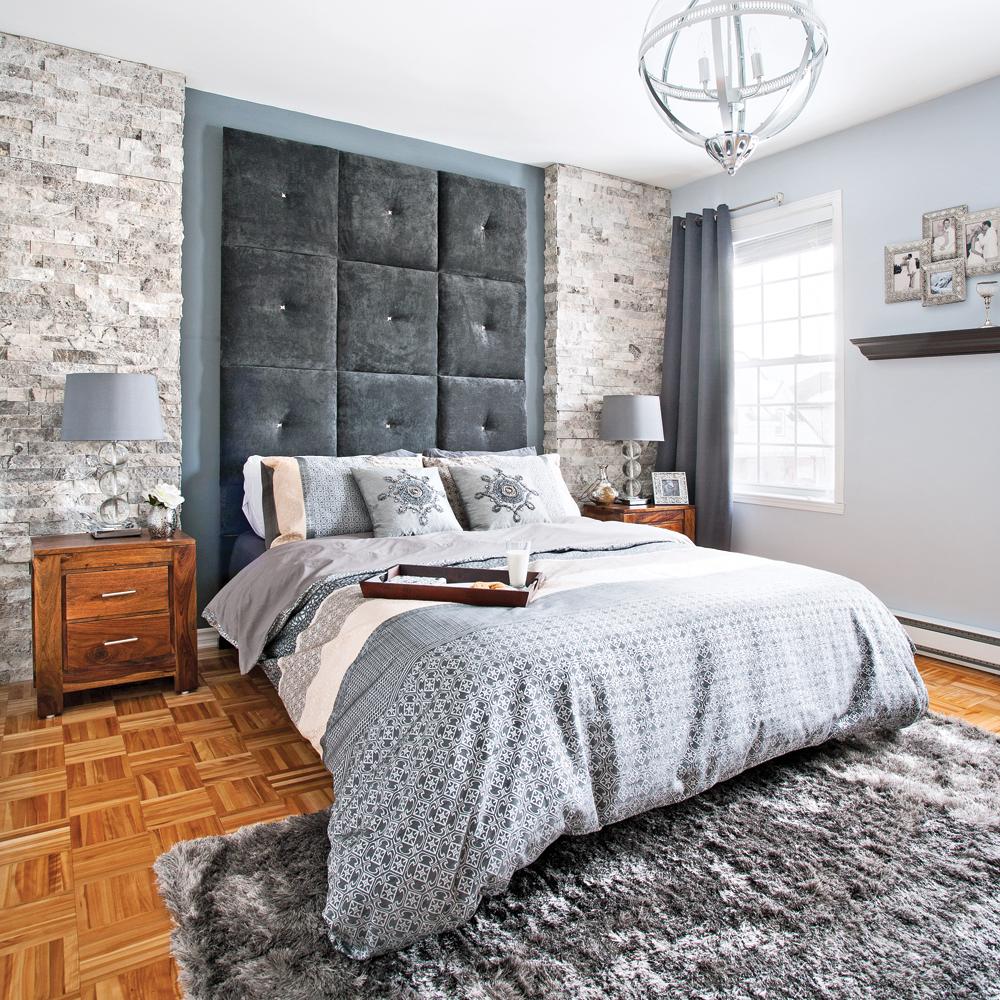 Une chambre de pierre et de velours chambre - Decor de chambre a coucher champetre ...