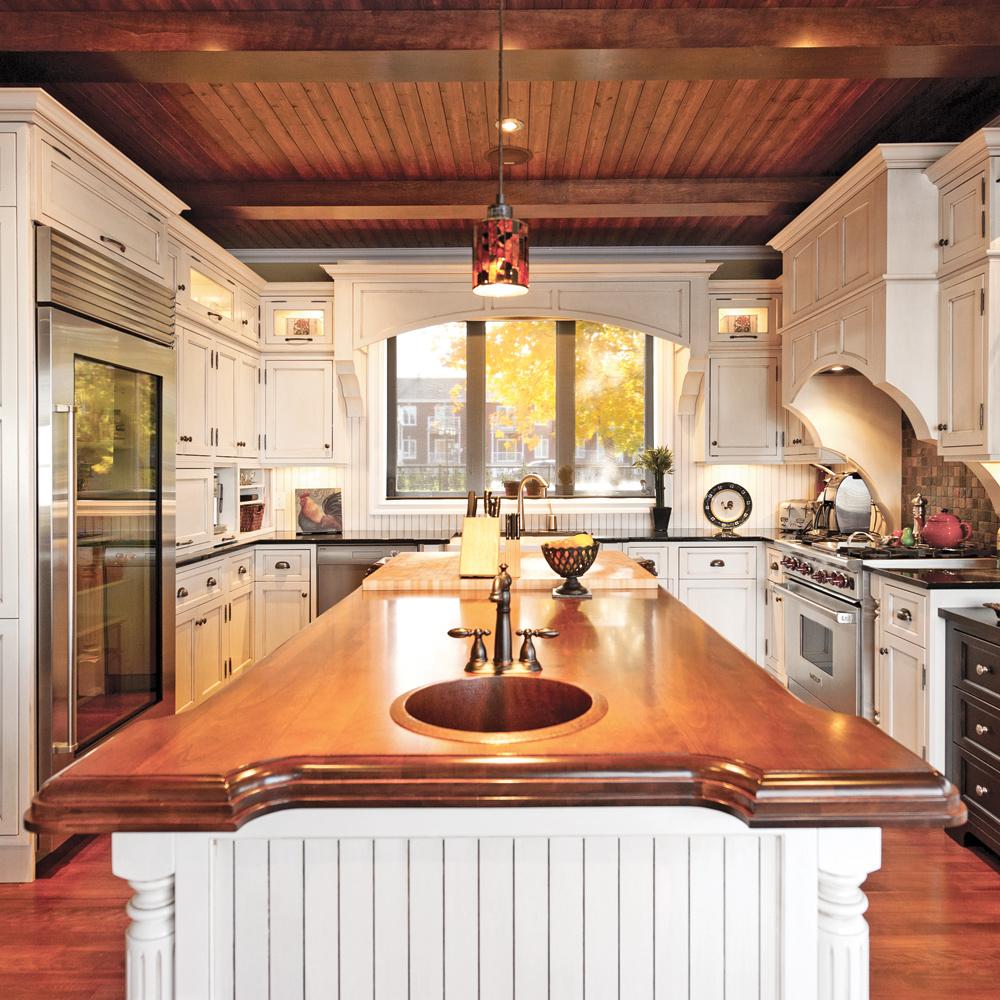 une cuisine au style champ tre chic cuisine. Black Bedroom Furniture Sets. Home Design Ideas