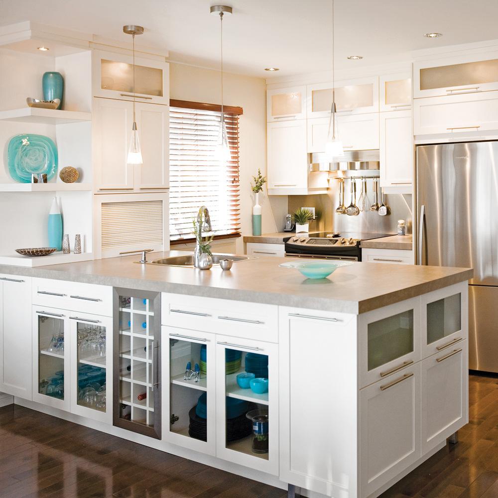 Une cuisine claire et fonctionnelle cuisine - Cuisine fonctionnelle et ergonomique ...