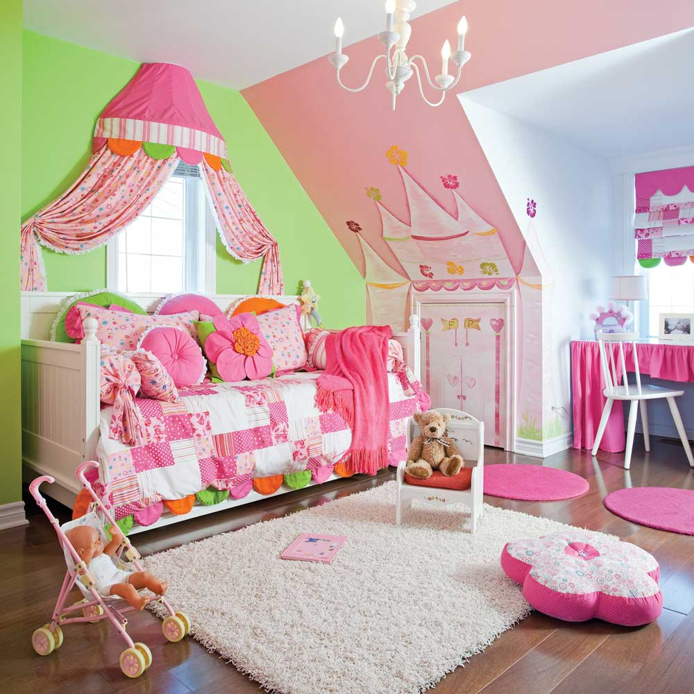D co chambre princesse for Chambre fille princesse