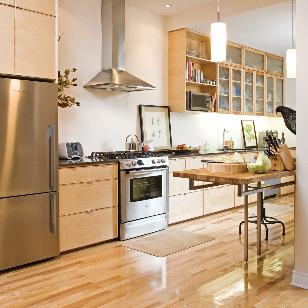 L'union du bois et du chrome dans la cuisine - Cuisine ...