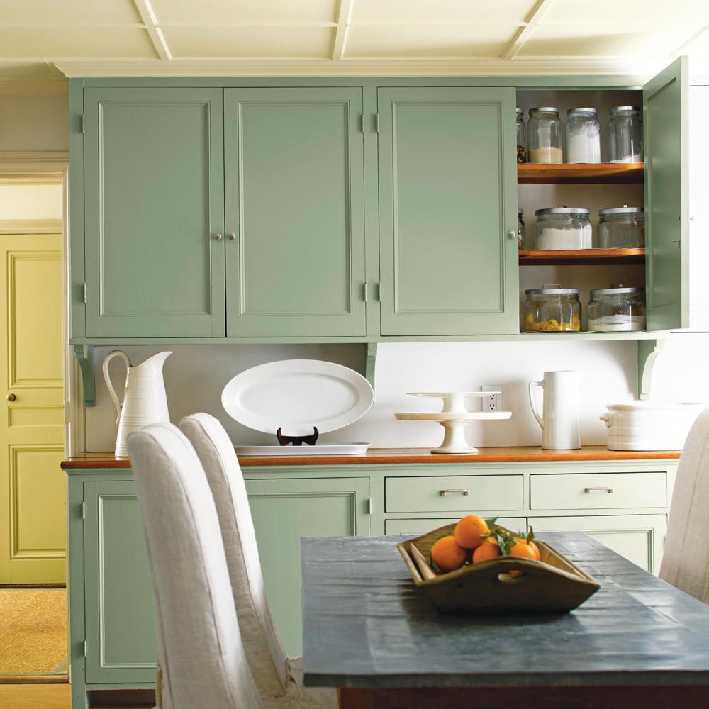 Vert l 39 horizon cuisine inspirations d coration et - Cuisine vert gris ...