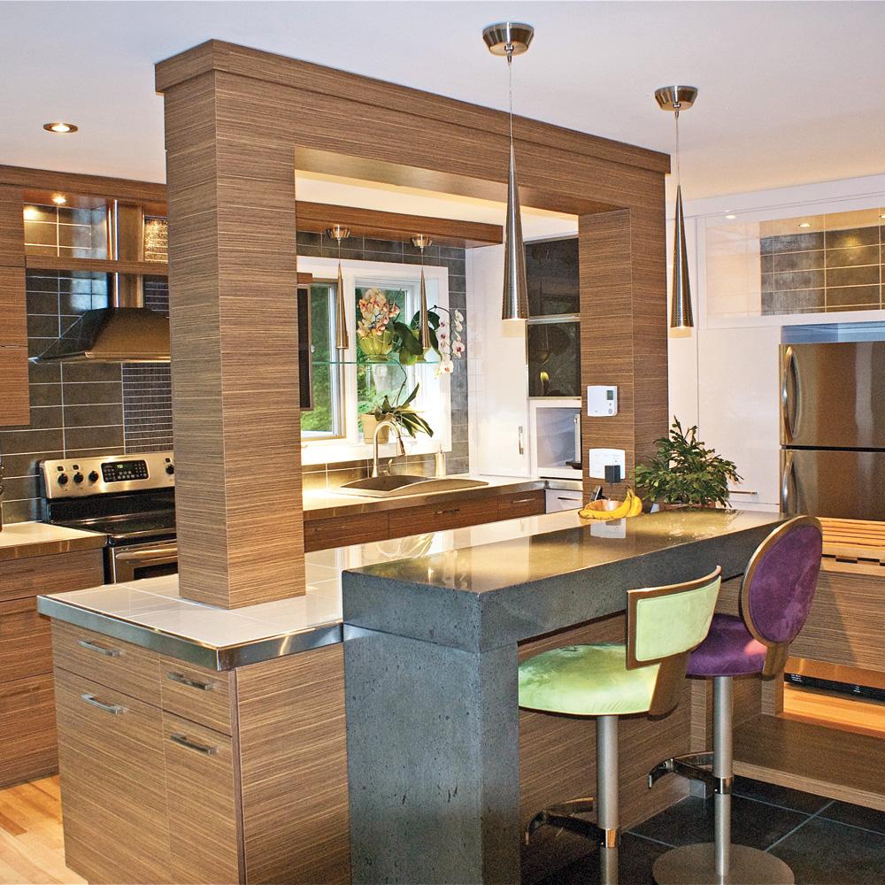 cuisine moderne zen avec des id es. Black Bedroom Furniture Sets. Home Design Ideas