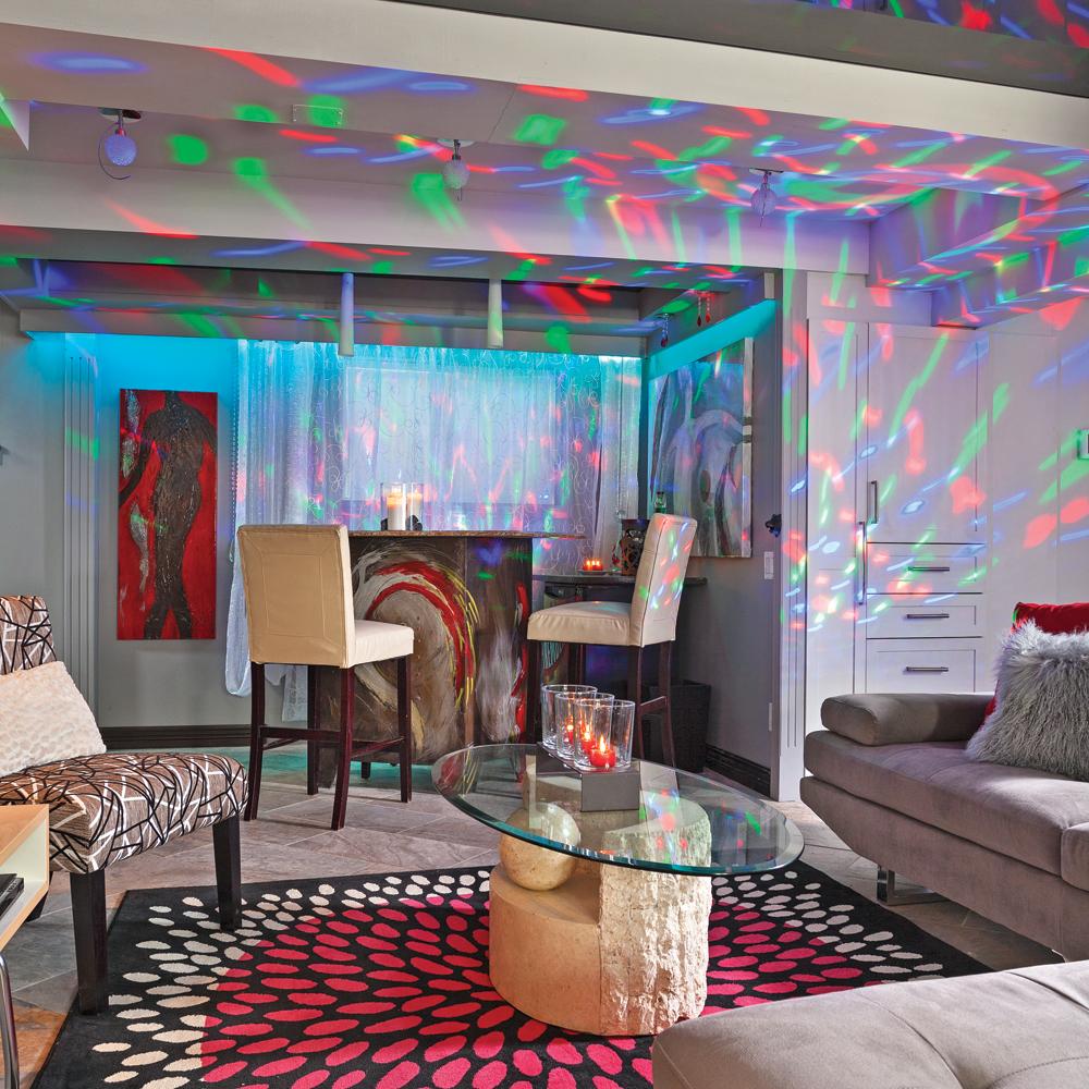 Zone de fête au sous sol   sous sol   inspirations   décoration et ...
