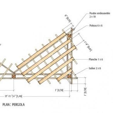 Plans pour fabriquer une pergola en c dre rouge plans et patrons jardinag - Plan pour fabriquer une pergola en bois ...