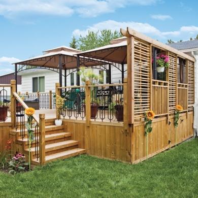 30 styles de garde corps pour un look unique patio for Modele de galerie en bois