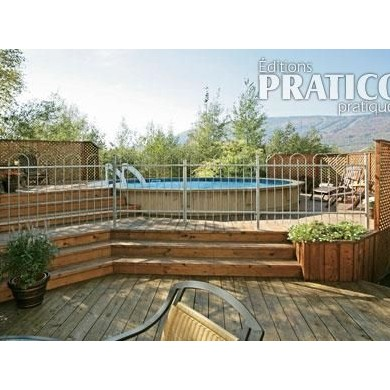construire un deck de piscine angles plans et patrons