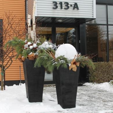 Du jardin dans vos d corations hivernales galeries d - Decoration du jardin ...