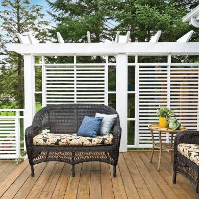 Cran actuel et pratique patio inspirations for Ecran exterieur