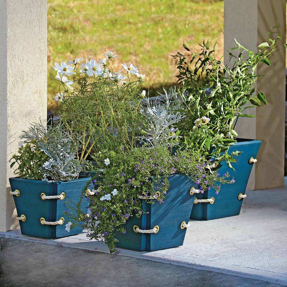 Cr er des pots de fleurs avec un air marin plans et patrons jardinage et ext rieur pratico - Un pot de fleur ...