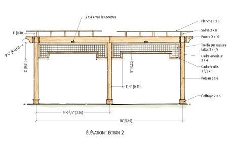 Plan de construction dune pergola en bois for Plans de pergola