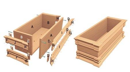 une bo te fleurs richement moulur e plans et patrons. Black Bedroom Furniture Sets. Home Design Ideas