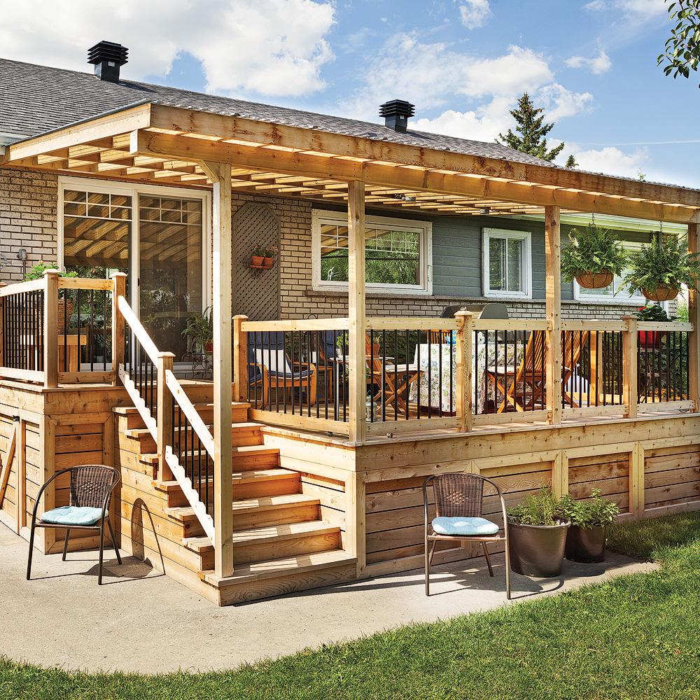 Rallonge trois saisons pour le patio patio for Plan de patio exterieur en bois