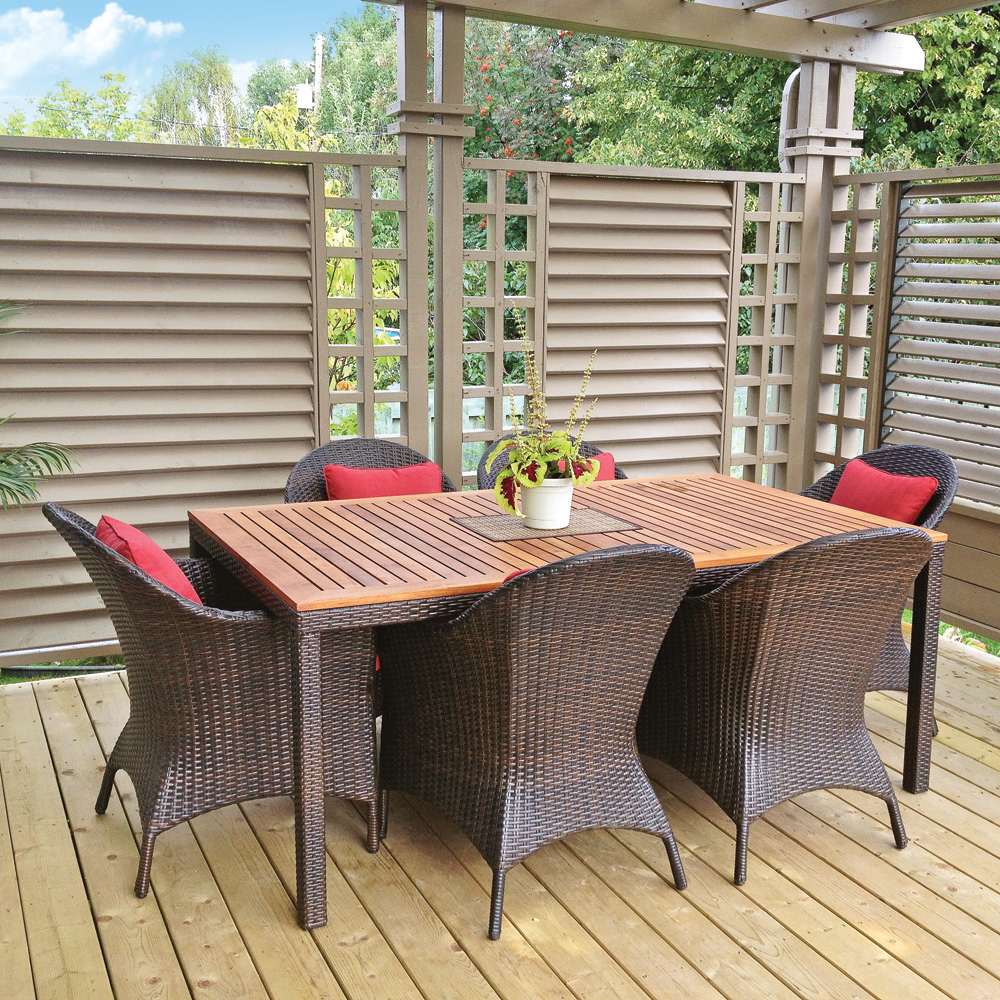 Cadre coquet sur la terrasse patio inspirations for Murs exterieurs terrasse