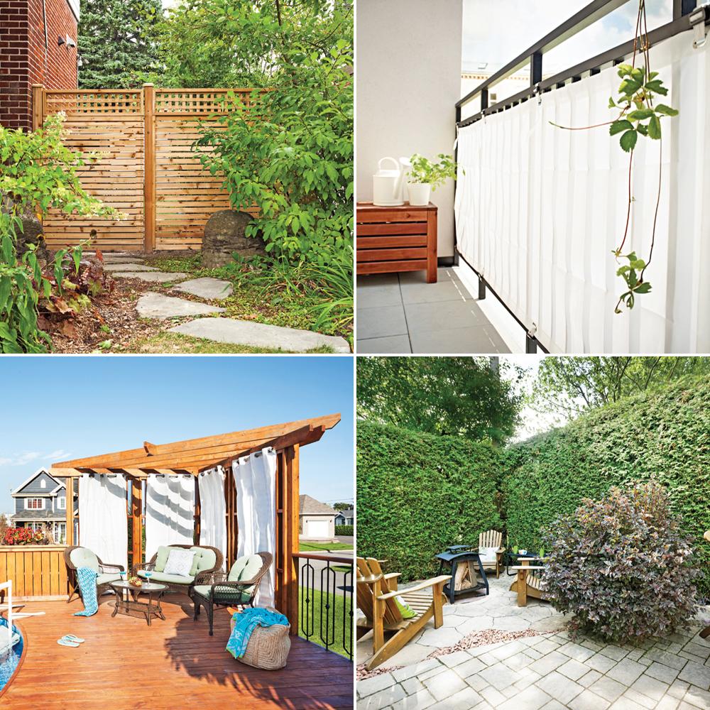 Nos meilleures solutions pour se cacher des voisins trucs et conseils jar - Cache vis a vis terrasse ...