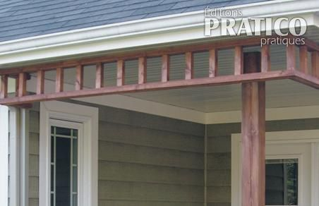 Fabriquer un l ment d coratif pour le patio en tapes for Fausse poutre decorative