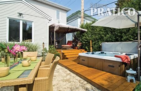 Petite cour d 39 inspiration asiatique patio inspirations for Patio exterieur arriere