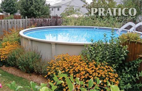 Jardin de vivaces autour la piscine hors terre pictures for Backwash piscine hors terre