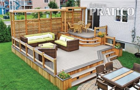 Variations sur deux tons pour le patio patio for Patio exterieur modele
