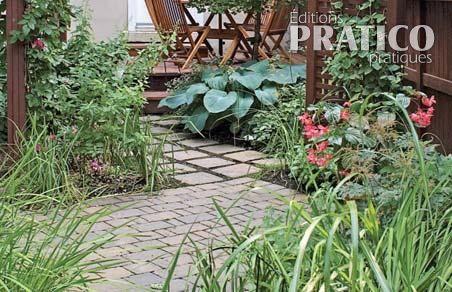 Cour intime et sans pelouse inspirations jardinage et ext rieur pratico pratique for Allee de jardin sans herbe