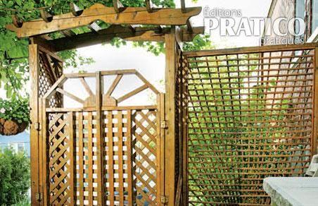 Porte d 39 entr e au jardin inspirations jardinage et for Porte bois exterieur jardin