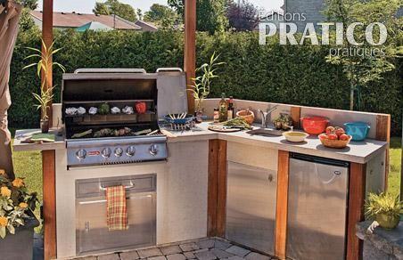 espace cuisine l 39 ext rieur inspirations jardinage et. Black Bedroom Furniture Sets. Home Design Ideas