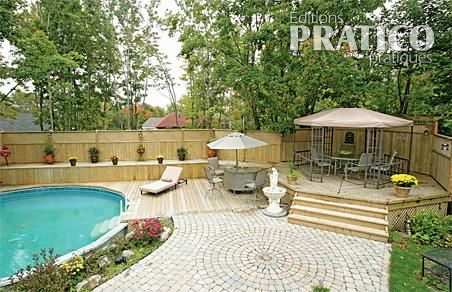 Grands besoins grand patio patio inspirations jardinage et ext rieur - Model de piscine creuse ...