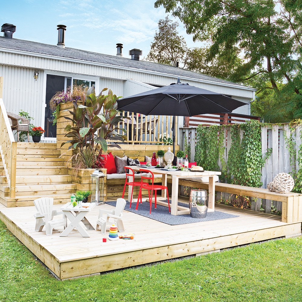 patio deux niveaux patio inspirations jardinage et On patio exterieur