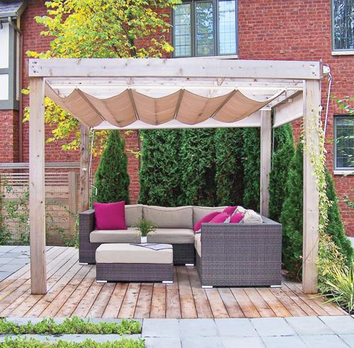 Decoration exterieur lounge pour patio rennes 3333 for Lampe exterieur pour pergola