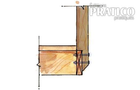 Plan pour fixer un poteau de pergola un patio plans et for Plan patio exterieur