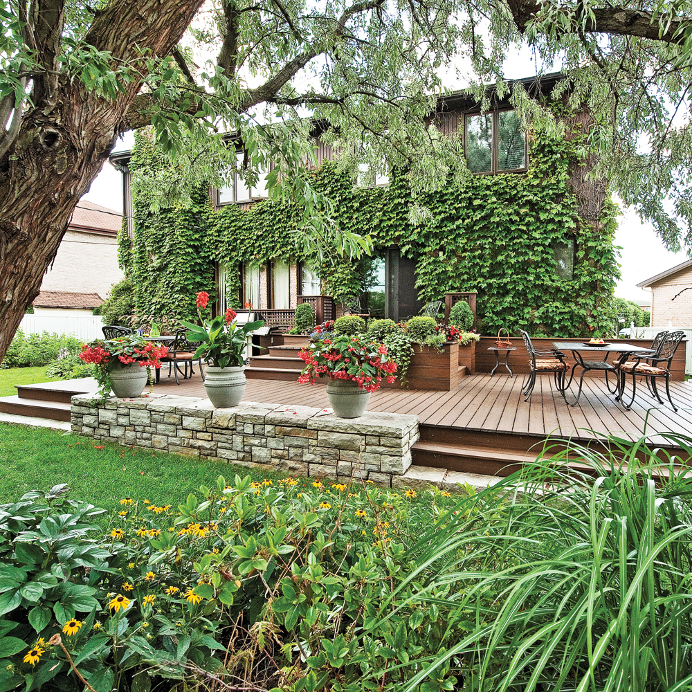 Terrasse Spacieuse : Spacieuse terrasse Cour Inspirations Jardinage et