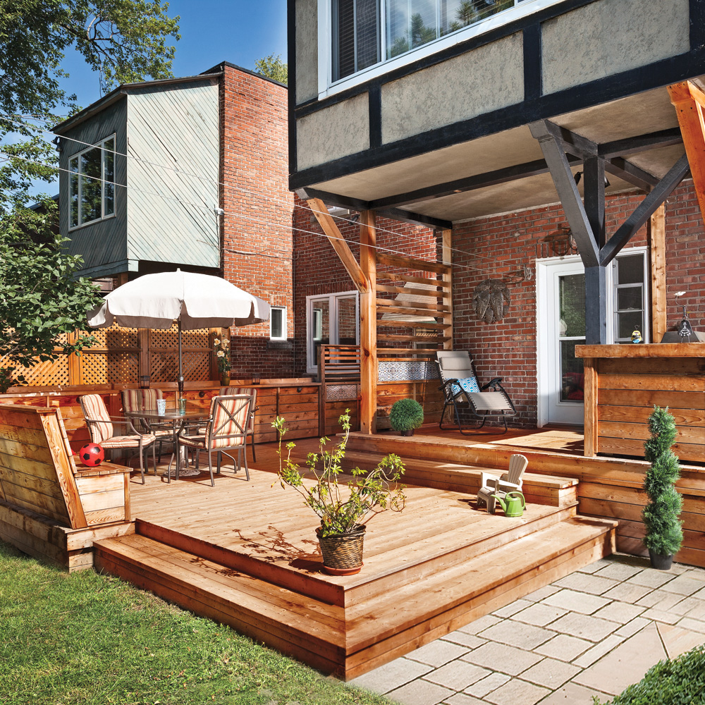 Terrasse en bois multifonction patio inspirations for Terrasse exterieur design
