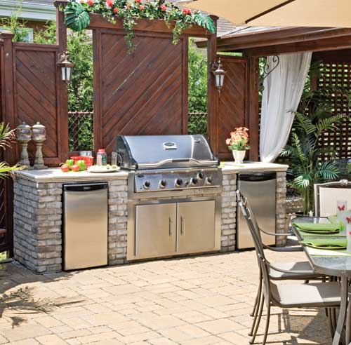Amenager une cuisine exterieure great amenagement cuisine for Amenagement bbq exterieur