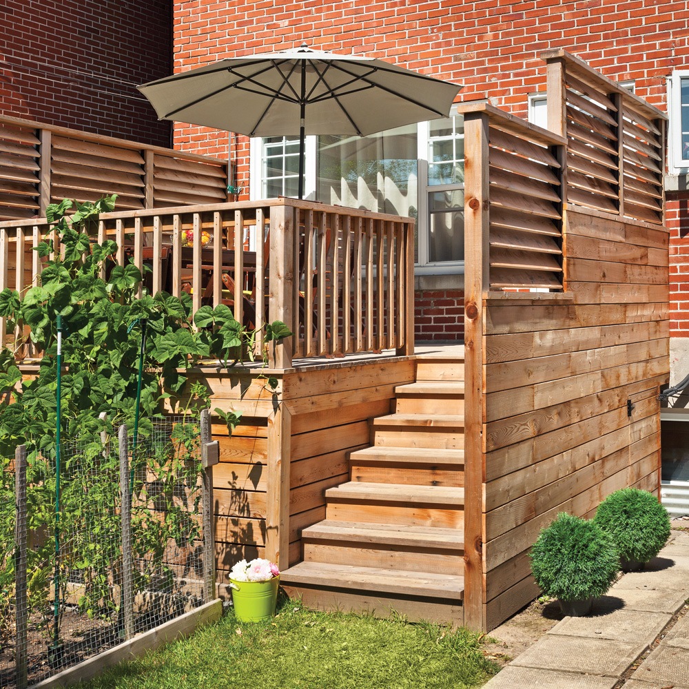 Un palier bien prot g patio inspirations jardinage et ext rieur prat - Photo patio exterieur ...
