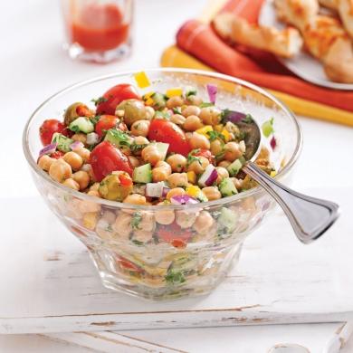 Salade de pois chiches olives vertes et menthe recettes cuisine et nutrition pratico pratique - Salade verte calorie ...
