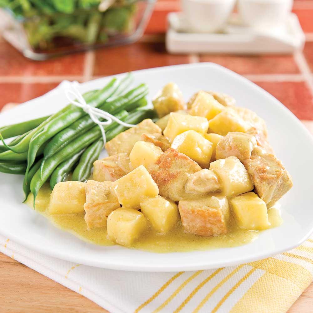 Cari de porc pic aux pommes la mijoteuse recettes - Cuisine a la mijoteuse ...