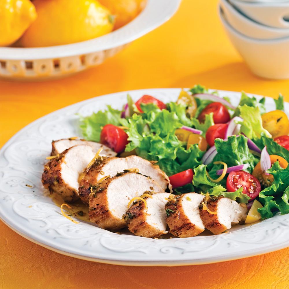 Poitrines de poulet au miel et citron recettes cuisine - Recette saine et equilibree ...
