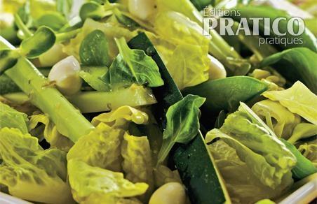 Salade verte et perles de bocconcini recettes cuisine et nutrition pratico pratique - Salade verte calorie ...