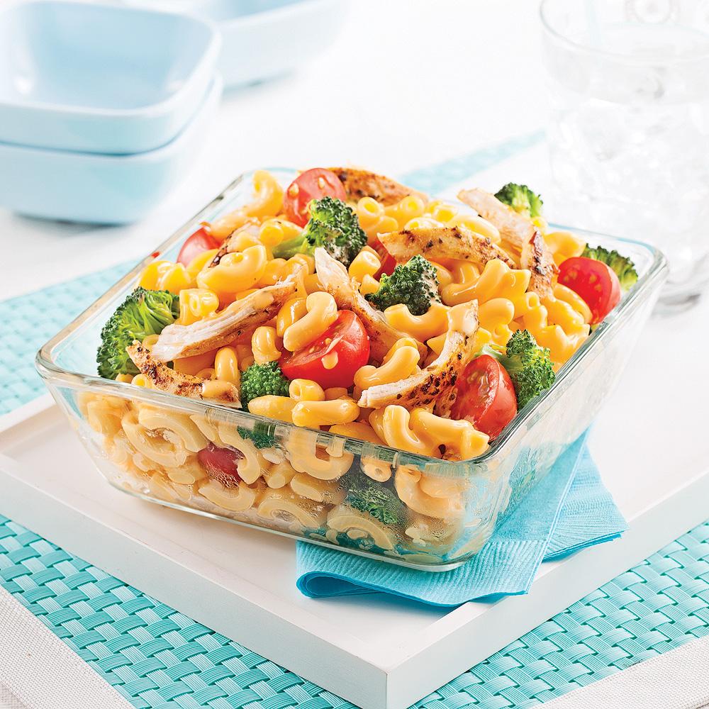 Macaroni primavera au poulet sauce au fromage recettes - Cuisine ecoiffier 18 mois ...
