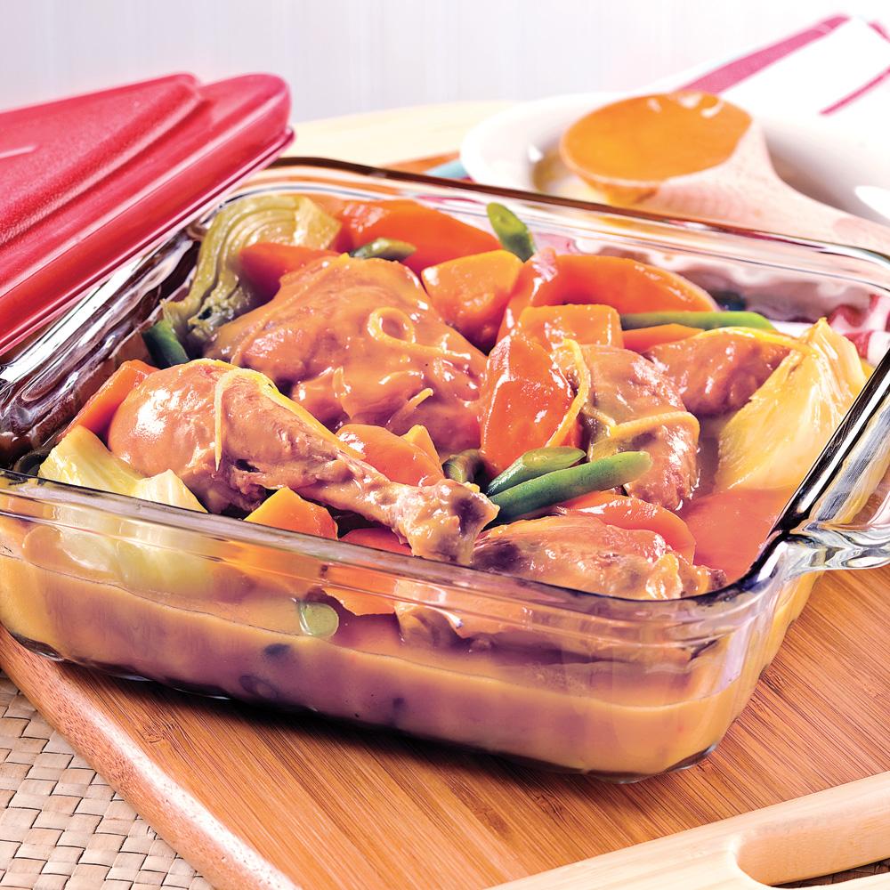 Cuisses de poulet au citron et l gumes d 39 automne - Plat cuisine a congeler ...